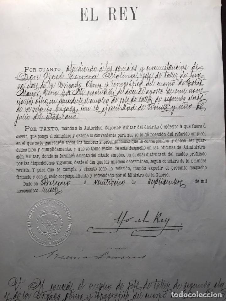 ALFONSO XIII. FIRMA REAL ESTAMPILLADA.1909.NIT (Coleccionismo - Documentos - Manuscritos)