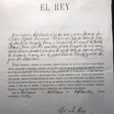 Manuscritos antiguos: ALFONSO XIII. FIRMA REAL ESTAMPILLADA.1909.NIT. Lote 146676682