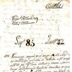 Manuscritos antiguos: MANUSCRITO DE 1639 DE JUAN DE IRUVE Y OZAETA, MAESE DE CAMPO INFANTERIA. Lote 146856522