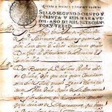 Manuscritos antiguos: MANUSCRITO DE 1694 DE MARIA ENCARNACION DE LOS SANTOS MUJER DE SORALUCE. Lote 146857206