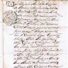 Manuscritos antiguos: MANUSCRITO DE 1706 DE ISIDRO DE YBARZABAL TESTAMENTO EN PANAMA. Lote 146857546