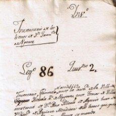 Manuscritos antiguos: MANUSCRITO DE 1662 LINAJE AGUIRRE-UGARTE DE LOS BIENES DE FRANCISCO DE UGARTE . Lote 146858042