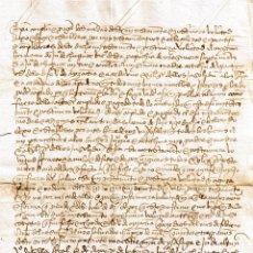 Manuscritos antiguos: MANUSCRITO DE 1513 CASA SOLAR CHURRUCA, MARTIN GARCIA CHURRUCA, TESTAMENTO . Lote 146858370