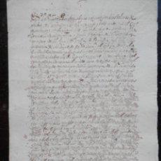 Manuscritos antiguos - MANUSCRITO AÑO 1623 PERALTA NAVARRA VENTA TIERRAS COMPROMISO PAGO - 146858398