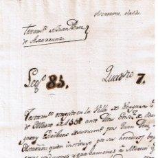 Manuscritos antiguos: MANUSCRITO DE 1558 LINAJE ASCARRUNZ DE JUAN PEREZ DE ASCARRUNZ EN VERGARA. Lote 146858758