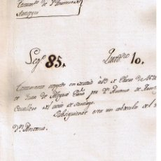 Manuscritos antiguos: MANUSCRITO DE 1623 ANTONIO DE AROSTEGUI CABALLERO SANTIAGO TESTAMENTO. Lote 146859206