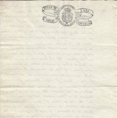 Manuscritos antiguos: 1844. SELLO FISCAL DE OFICIO 4 MARAVEDIS DOCUMENTO TIMBRADO PAPEL SELLADO. ISABEL II.. Lote 146925522