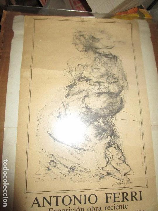 Manuscritos antiguos: PINTURA VALENCIANA ANTIGUO CARTEL PINTOR DE VALENCIA ANTONIO FERRI EXPOSICIION MURCIA 1983 - Foto 3 - 146598326