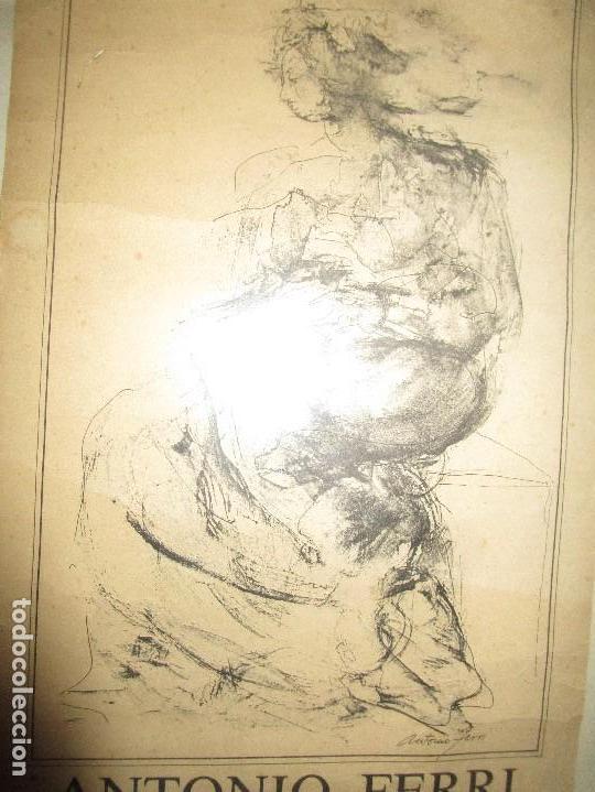 Manuscritos antiguos: PINTURA VALENCIANA ANTIGUO CARTEL PINTOR DE VALENCIA ANTONIO FERRI EXPOSICIION MURCIA 1983 - Foto 4 - 146598326