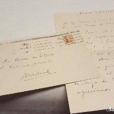 Manuscritos antiguos: VICENTE ALEIXANDRE. CARTA ORIGINAL MANUSCRITA Y FIRMADA POR EL PREMIO NOBEL EN 1951. Lote 147029906