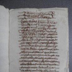 Manuscritos antiguos: MANUSCRITO AÑO 1614 VALENCIA CONSIGNACIÓN LATÍN Y VALENCIANO. Lote 147073530