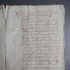 Manuscritos antiguos: MANUSCRITO AÑO 1657 VALENCIA CENSAL DE LA GENERALIDAD A ARZOBISPO TARRAGONA LATÍN VALENCIANO 9 PAGS. Lote 147074038