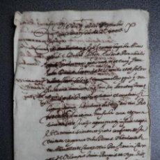 Manuscritos antiguos: MANUSCRITO AÑO 1635 VALENCIA APOCA LATÍN VALENCIANO. Lote 147074474