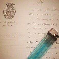 Manuscritos antiguos: ALCALDIA CONSTITUYENTE ONTENIENTE AÑO 1902 DOCUMENTO REFERENTE CELEBRACIÓ EN HONOR REY ALFONSO XIII. Lote 147253638