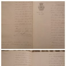 Manuscritos antiguos: DOCUMENTO REFERENTE A EPIDEMIA, ONTENIENTE 1900, ALCALDIA. Lote 147256418