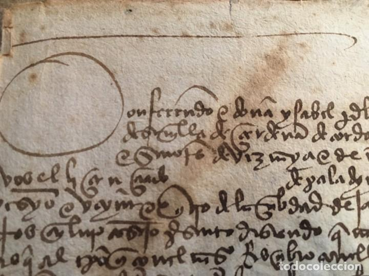 MANUSCRITO REYES CATÓLICOS 1497 JAÉN. DIEGO FERNÁNDEZ DE ULLOA, VEZYNO E XXIV DE LA CIBDAD DE JAHEN (Coleccionismo - Documentos - Manuscritos)