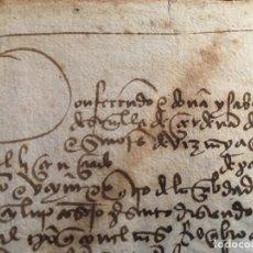 Manuscritos antiguos: MANUSCRITO REYES CATÓLICOS 1497 JAÉN. DIEGO FERNÁNDEZ DE ULLOA, VEZYNO E XXIV DE LA CIBDAD DE JAHEN. Lote 147349002