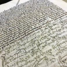 Manuscritos antiguos: PERGAMINO 1500, 40 PGS. MONASTERIO SANTA CLARA DE VITORIA, FAMILIA VERASTURI SOBRE UN MOLINO Y HERED. Lote 147354326