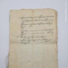 Manuscritos antiguos: VARIOS DOCUMENTOS VILLANUEVA DE CUBELLES 1725 SELLO FELIPE V LATÍN. Lote 147527822