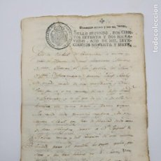Manuscritos antiguos: DOCUMENTO AÑO 1796 CARTAGENA SELLO CARLOS IV + DOCUMENTO IMPUESTOS. Lote 147530910