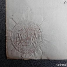 Manuscritos antiguos: SELLO LACRE LUJO GRANADA MANUSCRITO AÑO 1794 FIRMA ARZOBISPO - CERTIFICADO NO HA SIDO EXCOMULGADO. Lote 147589854