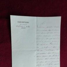 Manuscritos antiguos: PITILLAS (NAVARRA) DOCUMENTO. 1886. Lote 147596274