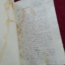 Manuscritos antiguos: PITILLAS Y TAFALLA (NAVARRA) DOCUMENTO LEGAL. 1879. Lote 147596850
