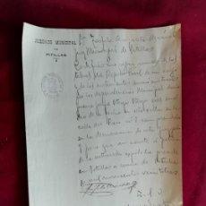 Manuscritos antiguos: PITILLAS (NAVARRA) DOCUMENTO DE 1923. Lote 147596914