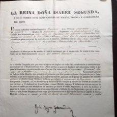 Manuscritos antiguos: ISABEL II. REGENCIA. 1838. Lote 147685846