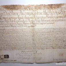 Manuscritos antiguos: 1738 * PERGAMINO VITELA * EMITIDO POR CARLOS REY DE NAPOLES * IMPERIO ESPAÑOL. Lote 147756590
