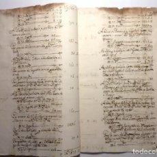 Manuscritos antiguos: NAPOLES 1734 * GASTOS CORTE DEL NUEVO REY BORBON CARLOS VII * MANUSCRITO 15 PAG. Lote 147757454