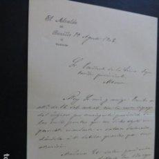Manuscritos antiguos: BONILLO ALBACETE CARTA DEL ALCALDE A PRESIDENTE DIPUTACION PROVINCIAL PAGO IMPUESTOS 1902. Lote 147875262