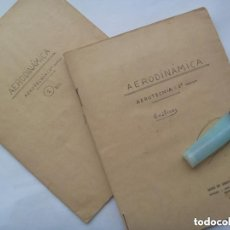 Manuscritos antiguos: ESCUELA ANTIGUA : LOTE 2 CUADERNOS MANUSCRITOS AERODINAMICA. AEROTECNICA 2º CURSO. BURGOS AÑOS 40. Lote 148445986