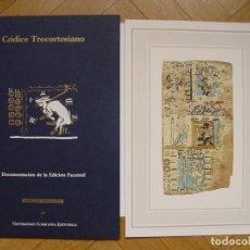 Manuscritos antiguos: FACSÍMIL CÓDICE TROCORTESIANO (CARPETA, 4 FOLIOS; TESTIMONIO, 1991) COLECCIONISTA. Lote 148448346