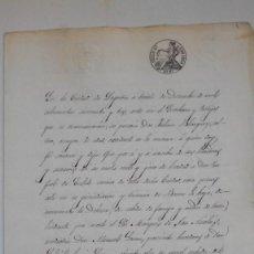 Manuscritos antiguos: ESCRITURA DE VENTA DE UNA HEREDAD DE TIERRA BLANCA EN BAREA LA BAJA 1853. Lote 148519862