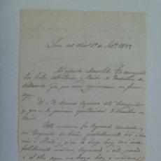 Manuscritos antiguos: CARTA MANUSCRITA SIGLO XIX . LORA DEL RIO ( SEVILLA ) , 1879 . . Lote 148803722