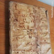 Manuscritos antiguos: VALENCIA. LIBRO MANUSCRITO. PASCUAL BARBER Y ROCA CATALA. 1720. HIDALGUÍA, INQUISICIÓN. Lote 149616622