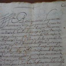 Manuscritos antiguos: LEGAJO C/ ARENAL MADRID, MAYORAZGO FRANCISCO SOTO, COLEGIAL BRIVIESCA, RUÍZ DE ALARCÓN, SEÑOR VALERA. Lote 149668826