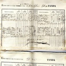Manuscritos antiguos: ALICANTE ASPE MINA HUERTA DEL ALJAN 41 HOJAS MANUSCRITAS AÑO 1861 . Lote 149684894