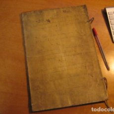 Manuscritos antiguos: MANUSCRITO DE 1657, 16PGS PERGAMINO CENSO MANUELA AVENDAÑO, BULLON CONTRA FAMILIAR SANTO OFICIO. Lote 149962382