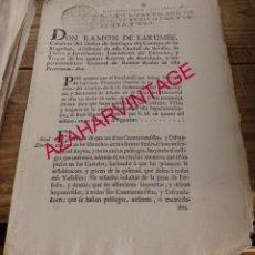 Manuscritos antiguos: 1762,INDULTO A CONTRABANDISTAS Y DEFRAUDADORES, 3 PAGINAS. Lote 150126662