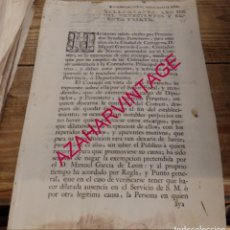 Manuscritos antiguos: 1767, DENEGACION EXONERACIONA SINDICO PERSONERO POR CARTAGENA, 1 HOJA. Lote 150130570