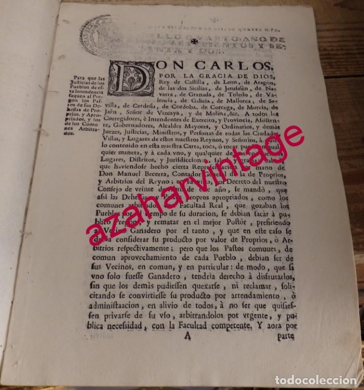 1762, AUTO PARA QUE SE SAQUEN AL PREGON LOS PASTOS DE LAS DEHESAS, TRANSHUMANCIA, GANADERIA (Coleccionismo - Documentos - Manuscritos)