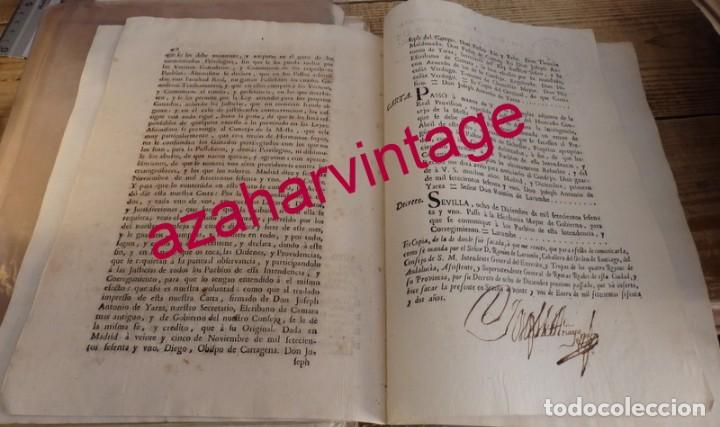Manuscritos antiguos: 1762, AUTO PARA QUE SE SAQUEN AL PREGON LOS PASTOS DE LAS DEHESAS, TRANSHUMANCIA, GANADERIA - Foto 2 - 150211174