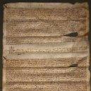Manuscritos antiguos: NUMULITE PERGAMINO AÑO 1606 MEDIDAS 33 X 51 VILALLONGA . Lote 150432658