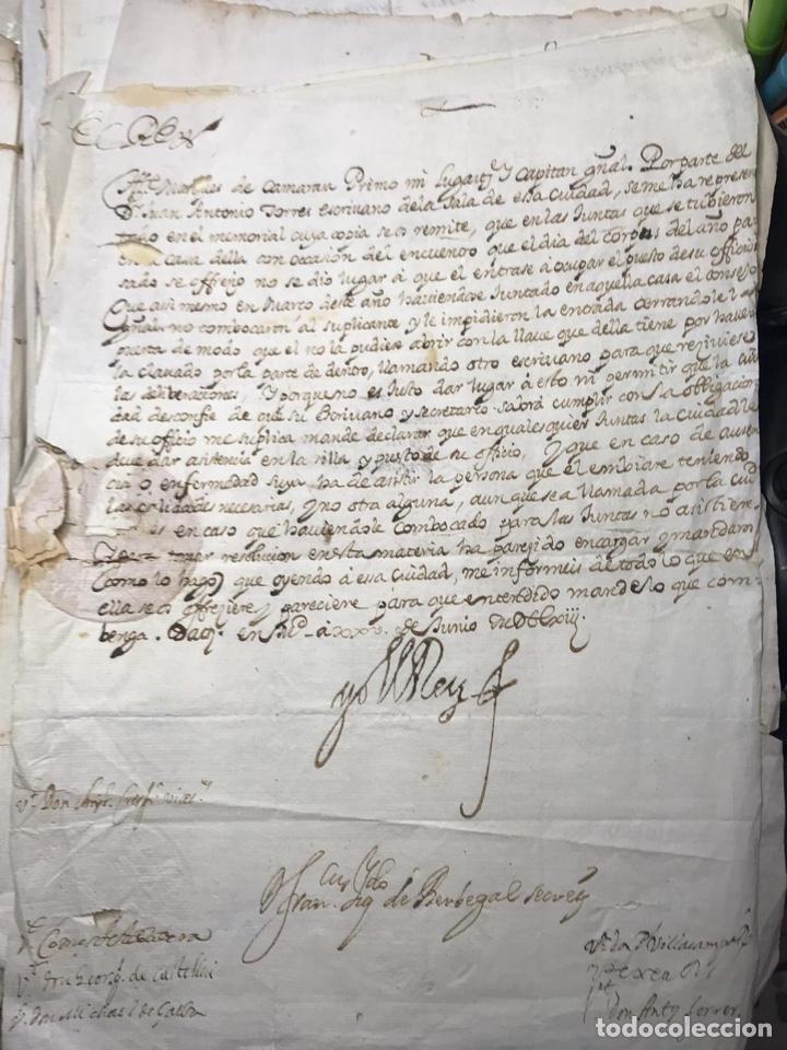 CARTA REAL DEL REY FELIPE IV AL MARQUES DE CAMARASA. CAPITAN GENERAL DE VALENCIA. AÑO 1658. 248 E. (Coleccionismo - Documentos - Manuscritos)