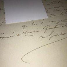 Manuscritos antiguos: JOSÉ MARÍA GABRIEL Y GALAN. 1902. CARTA PERSONAL MANUSCRITA Y FIRMADA.. Lote 151277154