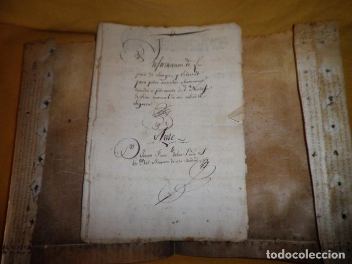 Manuscritos antiguos: CERTIFICADO DE LIMPIEZA DE SANGRE Y LIBERTAD - SEGOVIA AÑO 1816 - CHRISTIANOS VIEJOS·MUY RARO. - Foto 3 - 151482054
