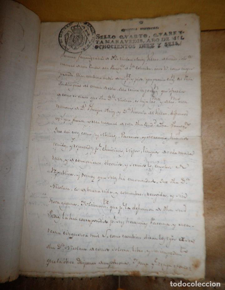 Manuscritos antiguos: CERTIFICADO DE LIMPIEZA DE SANGRE Y LIBERTAD - SEGOVIA AÑO 1816 - CHRISTIANOS VIEJOS·MUY RARO. - Foto 4 - 151482054
