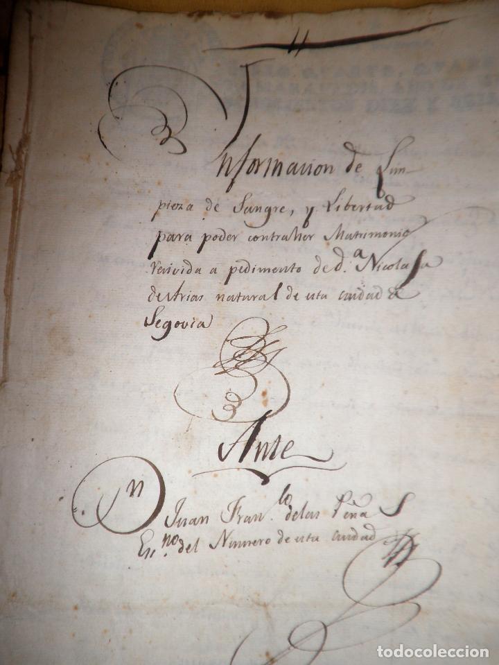 Manuscritos antiguos: CERTIFICADO DE LIMPIEZA DE SANGRE Y LIBERTAD - SEGOVIA AÑO 1816 - CHRISTIANOS VIEJOS·MUY RARO. - Foto 5 - 151482054